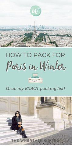 Paris Packing List Winter!