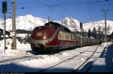 Net Photo: DB AG TEE at Seefeld, Austria by phil cotterill Locomotive Engine, Diesel Locomotive, Train Car, Train Tracks, Europa Express, Db Ag, Station To Station, Electric Train, Photo Location