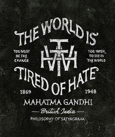 Gandhi: Typography and Illustration work by BMD Design