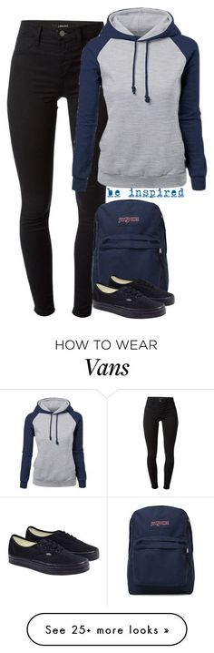 """Casual/Laid Back Style"" by cloudybooks on Polyvore featuring moda, J Brand, Underscore, JanSport, Vans, women's clothing, women's fashion, women, female ve woman"
