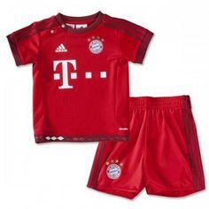 Günstige Bayern Munich 2015-16 Kinder Fußball Trikotsatz Heimtrikot