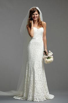 Watters #lace wedding gown