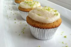 COCONUT LIME MINI CUPCAKES WITH COCONUT BUTTER FROSTING