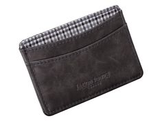 Stylish leather card holder grey & check Jacob Jones. At We Get Personal you get an option to choose your own engraving. #men #men'sfashion #personalisedcardholder #engravedcardholder #cardholder