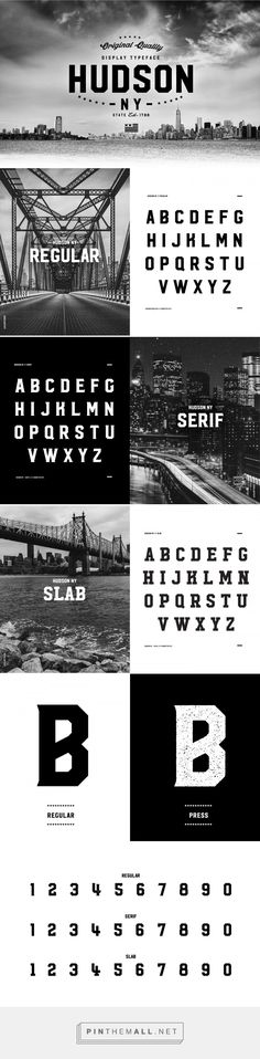 Hudson NY | Display Font on Behance - created via https://pinthemall.net