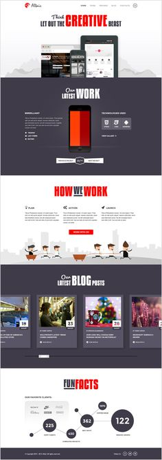 Altair PSD Website Template