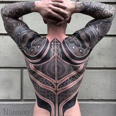 Damn! That's #frigginawesome - Killer back and sleeves by @nissaco - SICK!! - follow his feed for more mind blowing tattoos -- ARTISTS can tag & # us to share;) -- #tattooartistmagazine