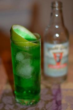 """Top 'O The Mornin' Tonic""-March 4 oz. Yacht Club Quinine Soda 1 1/2 oz. Celtic Honey liqueur (Irish whiskey honey liqueur) 1/2 oz. Green creme de menthe Directions: Add liqueur and Yacht Club Quinine soda to an ice filled tall glass. Then add half of a lime that has been cored, to the top of the glass. Add green creme de menthe to lime half and slowly pour into drink."