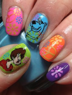 Super Groovy Scooby Nails by Canadian Nail Fanatic
