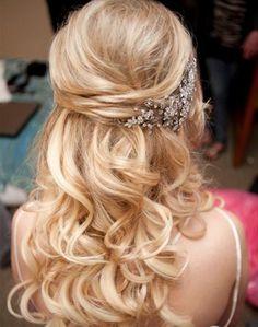 Gorgeous Half Up Half Down Long Wedding Hairstyles 2016