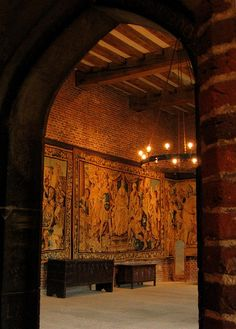 Banquet Hall, Tattershall Castle,Lincolnshire, UK