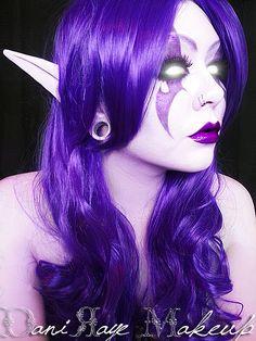 Night Elf Makeup by RyoOkie Elf Cosplay, Elf Costume, Cosplay Makeup, Cool Halloween Costumes, Halloween Cosplay, Halloween Make Up, Halloween Ideas, Halloween Face, World Of Warcraft Druid