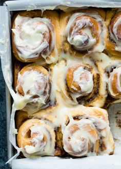 The BEST cinnamon rolls in the WORLD. Big, fluffy, soft and absolutely delicious. You'll never go back to any other recipe once you try this one! This cinnamon roll recipe includes options to make them overnight or ahead of time and even freeze them. #cinnamonrolls Best Cinnamon Rolls, Cinnamon Recipes, Baking Recipes, Overnight Cinnamon Rolls, Bread Flour Recipes, Homemade Cinnamon Rolls, Best Cinnamon Roll Recipe, Cinnabon Cinnamon Rolls, Brunch Recipes