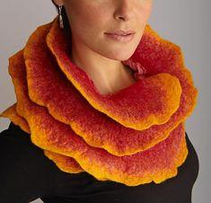 """Sunrise Rose Scarf""        Silk & Wool Scarf                                                                              Created by                          Jenne Giles"