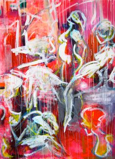Large abstract paintings by artist Kira Lykke  \\    Store abstrakte malerier  af kunstmaler Kira Lykke  \\    www.artunika.dk  //  www.artunika.com