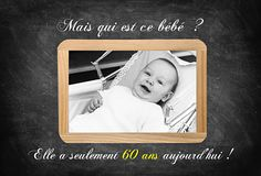 Invitation anniversaire devinette Vintage Photos, Party Time, Diy And Crafts, Reception, Invitations, Animation, Birthday, Frame, Cards