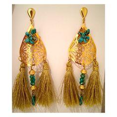 efbb33df25cd Earrings 2016  bamboleira Aretes largos fiesta hechos en Colombia. Hechos a  mano fashion women accesorios accesories