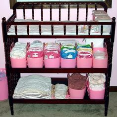 Cloth Diaper Storage- I think with two babies in cloth diapers at once, I'm going to need this! :)