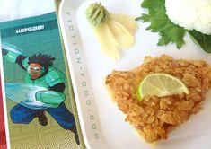 #BigHero6 Wasabi Ginger's Wasabi Ginger, Chip-Cristed Fish Fillets. #Disney