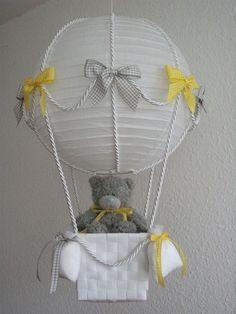 """Heissluftballon"" gelb grau"