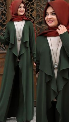 Green Pants - NisaLife Hijab Fashion 2017, Abaya Fashion, Muslim Fashion, Fashion Pants, Fashion Dresses, Modest Fashion, Peach Maxi Dresses, Modest Dresses, Modest Outfits