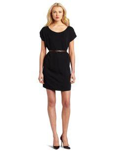 BCBGeneration Women's Waist Belt Dress  Black  X-SmallFrom #BCBGeneration Price: $88.00