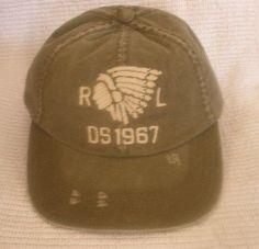 39 NWT MENS DENIM   SUPPLY BY POLO RALPH LAUREN INDIAN CHIEF BASEBALL HAT  CAP Baseball 16f71f5357fb