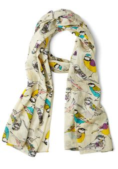 Comely Chirps Scarf, #ModCloth