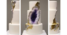 This Stunning Geode Wedding Cake Will Totally Rock Your World Rachael Teufel -- the owner of Intricate Icings Cake Design -- created this gorgeous amethyst g. Bolo Geode, Geode Cake, Creative Desserts, Creative Food, Evans Craft, Tapas, Dream Wedding, Wedding Day, Wedding Stuff