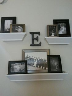 Show Us How You're Displaying Your Wedding Photos! :  wedding photo displays home decor wedding photo decorating Wedding Wall