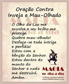 Magia no Dia a Dia: Oração Contra Inveja e Mau-Olhado Mr Magoo, Jesus Prayer, Zen, Numerology, Reiki, Texts, Prayers, Religion, Stress