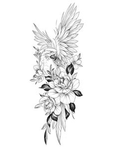Floral Mandala Tattoo, Mandala Tattoo Design, Flower Tattoo Designs, Eagle Tattoos, Dope Tattoos, Body Art Tattoos, Flor Tattoo, Arm Tattoo, Sleeve Tattoos