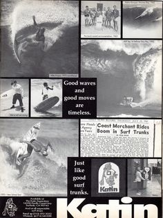 Old Surf Magazine ad. Hagins collection.