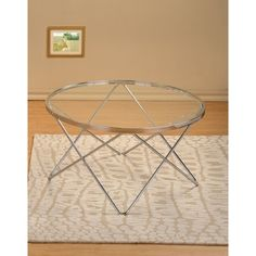 Modern Chrome and Glass Round Cocktail Coffee Table - Overstock™ Shopping - Great Deals on Coffee, Sofa & End Tables