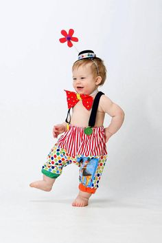 Boys Circus Outfit Baby Clown Costume 1st Birthday Baby