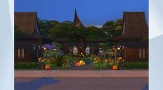 "Check out this lot in The Sims 4 Gallery! - #witches #boutiques #retail#shops come buy your lotions and potions ,check the latest witches #fashion ,meet with friends and have a snack to eat in the gardens #gothkittymimi #witch#spooky i have other lots with #halloween theme in the gallery plz enjoy :D #newcrest#cute#hot#sexy#fantasy#beautiful ""bb.moveobjects"" for the gardens"
