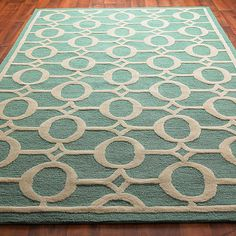Indoor Outdoor Carved Ellipse Rug: 5 Colors also love the apple green and tangerine!