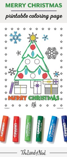 Surprise your little ones with this free printable Christmas coloring page!