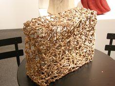 "Hisako Sekijima 480hs BE AWAY TO BE edgeworthia bark 13.75"" x 15.75 x 6.25, 2003 browngrotta arts"