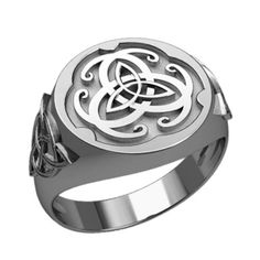49799dbcbcc Details about 925 Sterling Silver Men s Carnelian Celtic Knot Irish  Triquetra Trinity Ring
