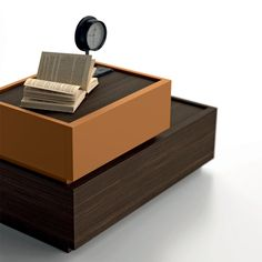 Dall'Agnese Super bedside cabinet, available invarious finishes and si at My Italian Living Ltd