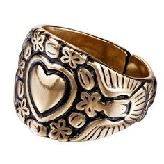 Kalevala Koru / Kalevala Jewelry / KIVENNAPA RING Material: bronze or silver