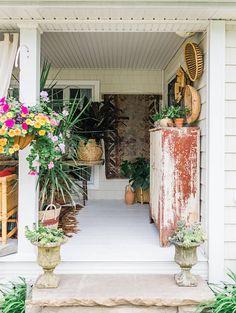 wall baskets ~ETS #porchgarden