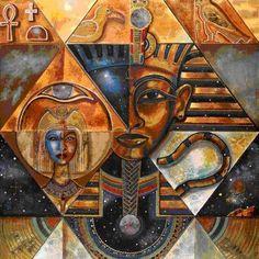 Egyptian Art – Arabian Art – Handmade Oil Painting On Canvas. Egyptian Symbols, Egyptian Art, Egyptian Goddess, Egyptian Mythology, Egyptian Kings And Queens, Ancient Egypt Art, Ancient Aliens, Ancient Artifacts, Ancient Greece