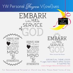 YW Personal Progress V{owl}ues 2015 Mutual Theme Logos: Tons of free downloads!