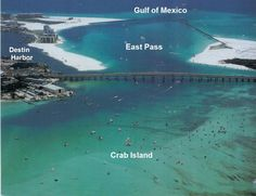 Crab Island view, Destin Florida. It really was an island 50 years ago, now a beautiful white sandbar.