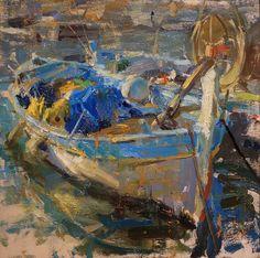 Gold and Blue in Villefranche, Derek Penix, Eisenhauer Gallery 10x10