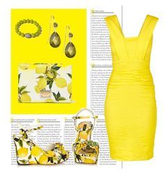 """""""Gimme some lemons"""" by alvernacecilia on Polyvore featuring mode, Nicole Miller, Dolce&Gabbana en Tai"""