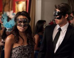 """""""Masquerade"""" - Katerina Graham as Bonnie, Steven R. McQueen as Jeremy in THE VAMPIRE DIARIES on The CW. Photo: Quantrell D. Colbert/The CW 2010 The CW ..."""