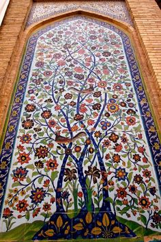 Beautiful tile work - Tree of Life - Vakil Mosque, Shiraz, Iran.